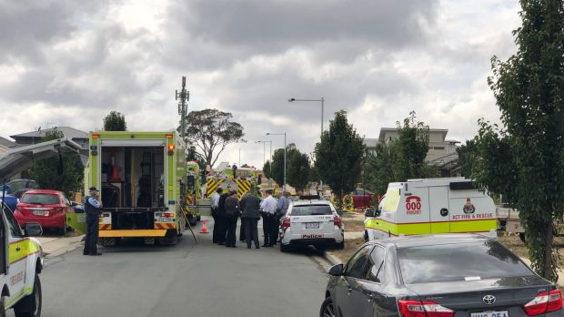 Police cordoned off part of a Gungahlin street.