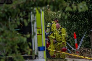 ACT policing and ACT fire and rescue invesstigate a suspicious fire in a home in Peter Coppin street, Bonner.
