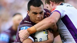 Temperature gauge: Manly's Lloyd Perrett will need to closely monitor his temperature before, during and after games ...