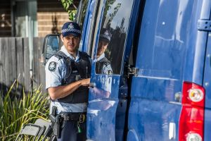 ACT policing, AFP and forensic officers at the scene of the house fire and triple death in Peter Coppin street, Bonner- ...