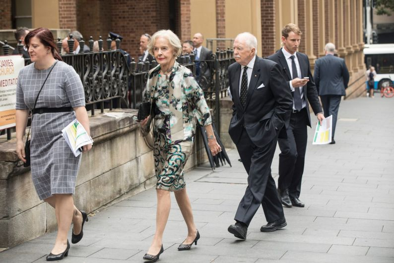 Dame Quentin Bryce, former Governor General of Australia arrives.