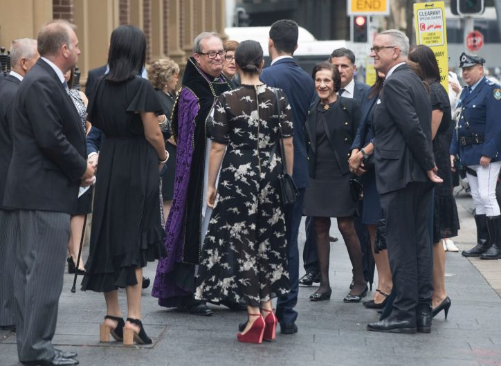Marie Bashir, wife and former Governor of NSW arrives at his State Funeral.