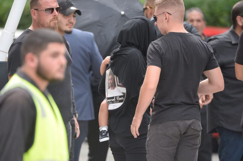 Mick Hawi's funeral at Arncliffe Mosque.