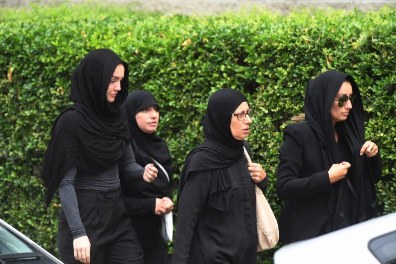 Mourners attend Mahmoud 'Mick' Hawi's funeral at the Masjid Fatima Al Zehra mosque in Arncliffe, Sydney.