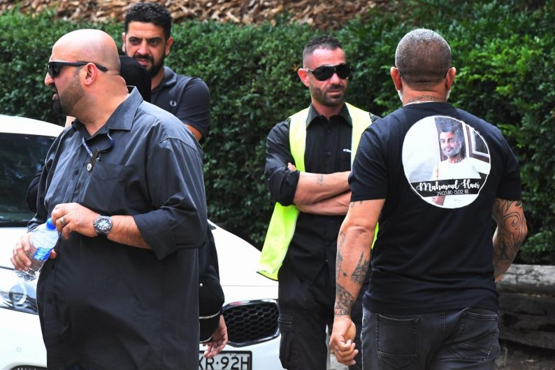 Mourners attend Mahmoud 'Mick' Hawi's funeral.
