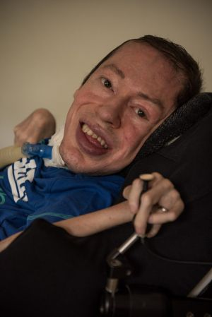 Dion Detterer was born with muscular dystrophy.