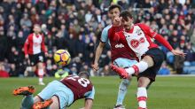 Southampton's Manolo Gabbiadini scores his side's first goal during the Premier League soccer match between Burnley and ...