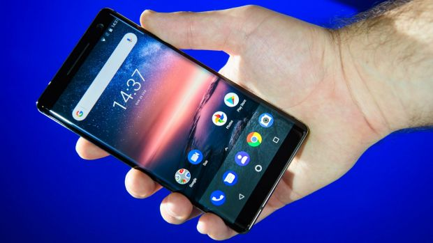 The Nokia 8 has been given a refresh, now smaller overall but with a bigger and nicer screen.