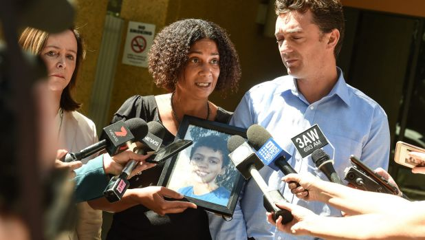 Louis Tate' parents, Simon Tate and Gabrielle Catan after Monday's hearing
