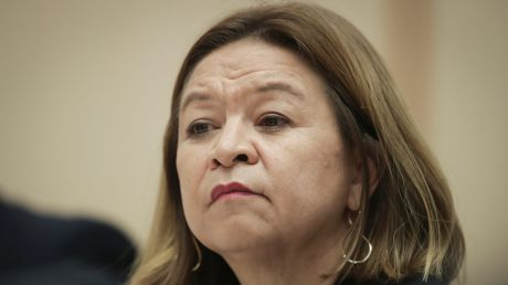 ABC Managing Director Michelle Guthrie during a Senate estimates hearing at Parliament House in Canberra on Tuesday 27 ...