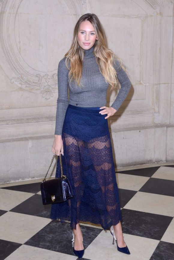 Dylan Frances Penn, daughter of Sean Penn and Robin Wright attending the Christian Dior show as part of the Paris ...