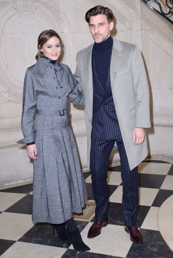 Olivia Palermo and Johannes Huebl attending the Christian Dior show as part of the Paris Fashion Week Womenswear ...