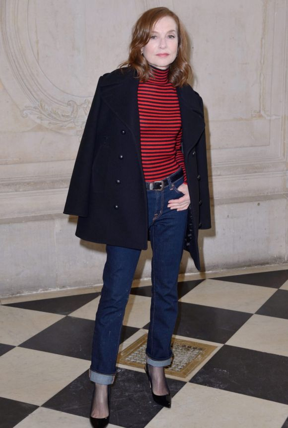 Isabelle Huppert attending the Christian Dior show as part of the Paris Fashion Week Womenswear Fall/Winter 2018/2019 in ...