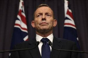 Prime Minster Tony Abbott announced at a press conferenec in Parliament House Canberra that Immigration minister Peter ...