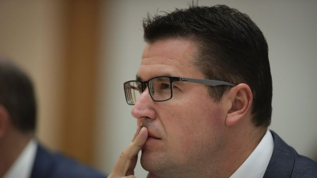 """ACT Senator Zed Seselja announced """"record funding"""" for ACT public hospitals."""