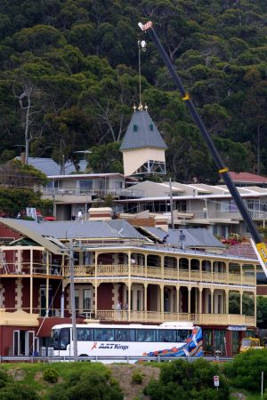The Hells Angels and their families will stay at The Grand Pacific Hotel in Lorne.