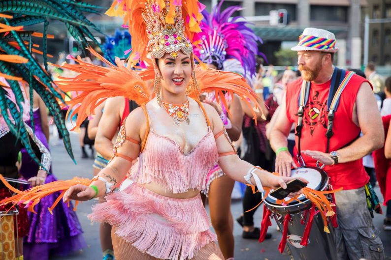 Feathers and drums at the 2018 Mardi Gras