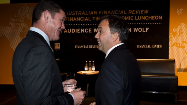 James Packer and Matthew Grounds in happier times.