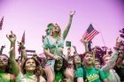 Festival goers attend the Okeechobee Music and Arts Festival