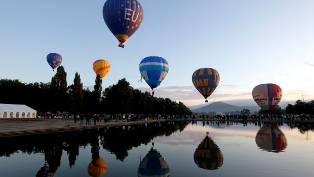 The Canberra Balloon Spectacular starts on Saturday morning, launched from the lawns of Old Parliament House.
