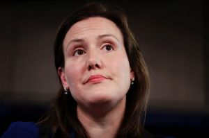 Minister for Women Kelly O'Dwyer delivers her International Women's Day Address at the National Press Club of Australia ...