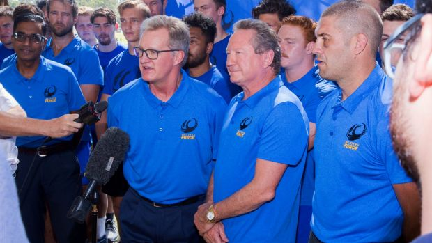 Ready: Andrew Forrest and Michael Lynagh discuss the future of the Western Force.