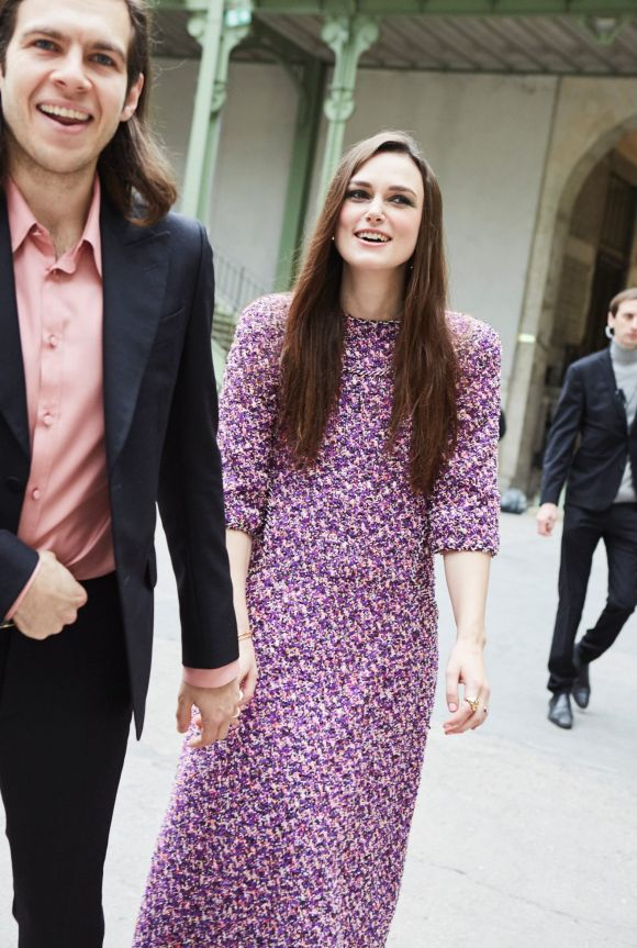 Keira Knightley and James Righton attend the Chanel show as part of the Paris Fashion Week Womenswear Fall/Winter ...