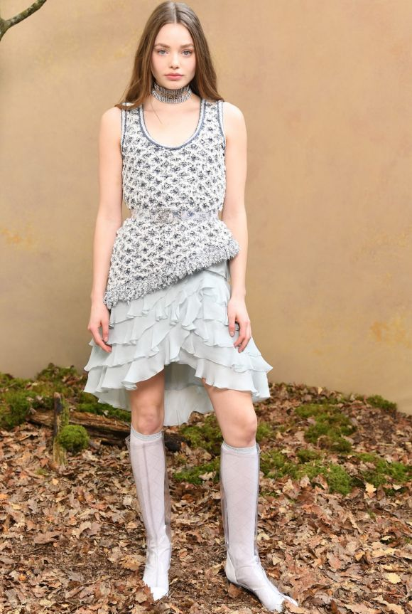Kirstine Frose attends the Chanel show as part of the Paris Fashion Week Womenswear Fall/Winter 2018/2019 at Le Grand Palais.