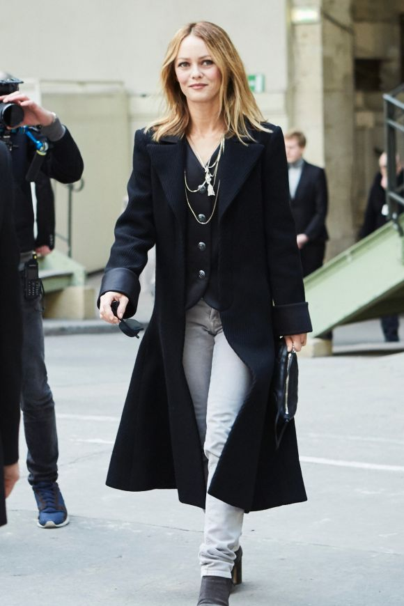 Vanessa Paradis attends the Chanel show as part of the Paris Fashion Week Womenswear Fall/Winter 2018/2019 at Le Grand ...