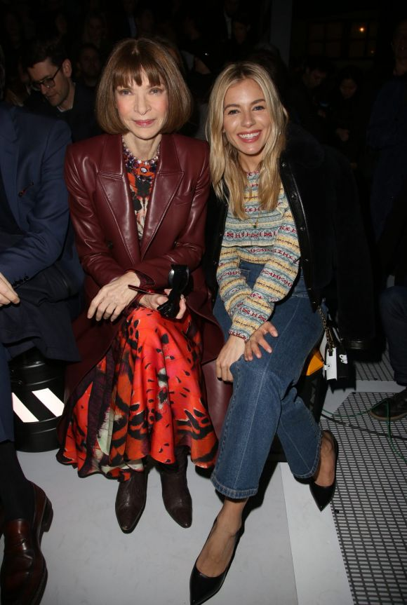 Anna Wintour and Sienna Miller attending the Louis Vuitton show as part of the Paris Fashion Week Womenswear Fall/Winter ...