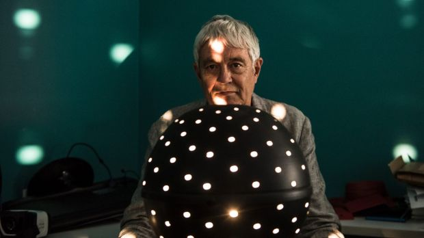 David Burr who has been doing research on spinning optical dots and diagnosing autism. 7th March 2018. Photo: Steven Siewert