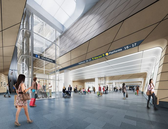An artist impression of the Central station.