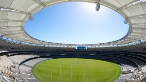 Perth's Optus Stadium has seating for 60,000.