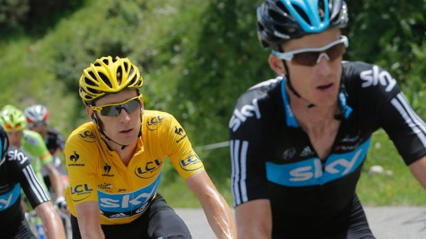 Canberra's Michael Rogers, right, has questioned the validity of a report claiming former Sky teammate Brad Wiggins, ...