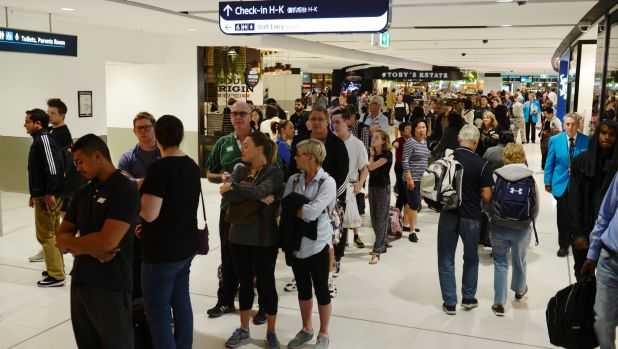 A technical issue shut down passenger processing at both the international and domestic terminals on Friday morning.