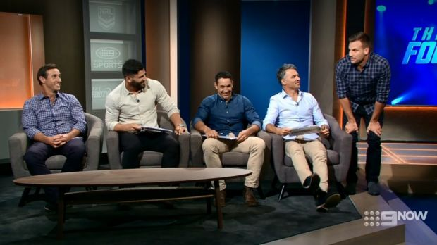 Beau Ryan was left without a seat on the new, scaled-back Footy Show.
