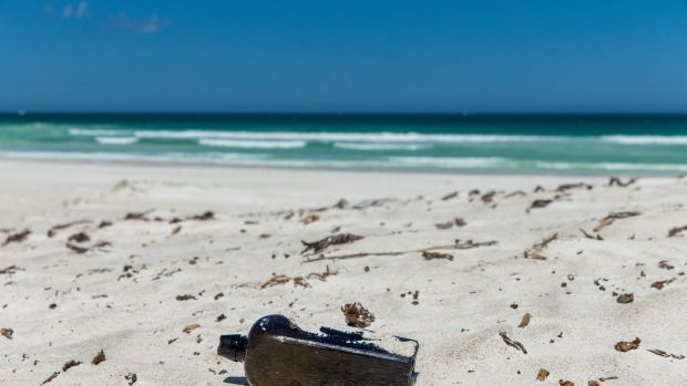 The message in a bottle was discovered near Wedge Island.