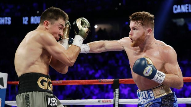 Positive test: Canelo Alvarez, right, is the latest boxer to come under scrutiny for taking a banned substance.