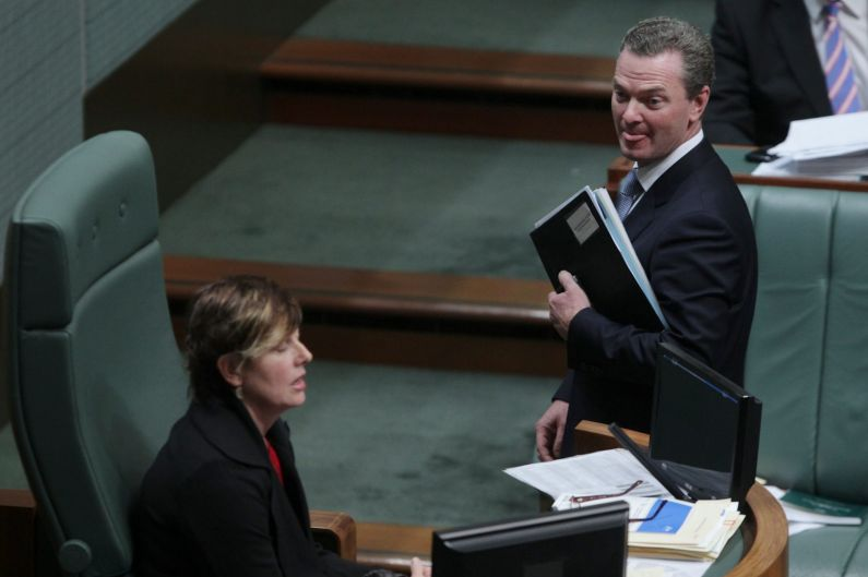 Manager of Opposition Business Christopher Pyne is suspended from Question Time by Acting Speaker Anna Burke at ...