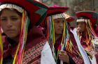 Indigenous women attend the annual festival of Pujllay of Tarabuco, in La Paz, Bolivia,