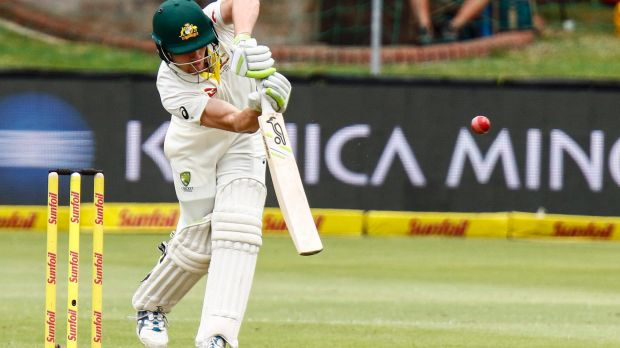 Back to business: Cameron Bancroft and the rest of the Australian team hadn't seen a bat or ball in several days during ...