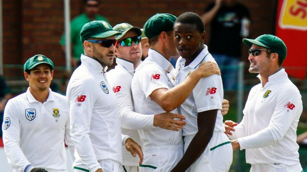 Hard case: Kagiso Rabada must prove his bump on Steve Smith was not deliberate to escape sanction.