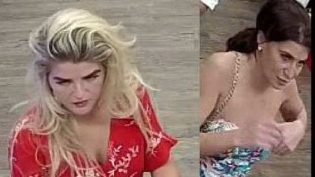 Two women who are allegedly part of the group of scammers.