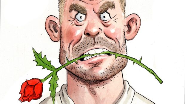 john shakespeare illo of david warner for fitz files sport
