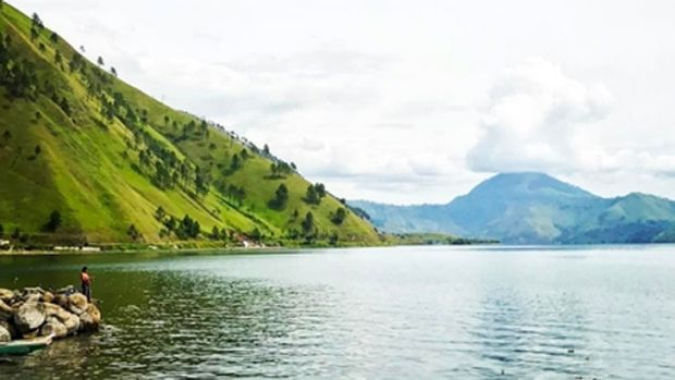 Lake Toba in Sumatra, Indonesia,  was formed after the catastrophic eruption.