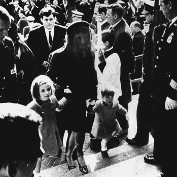 Jackie Kennedy wore Givenchy to attend the funeral of her  husband John. F .Kennedy.