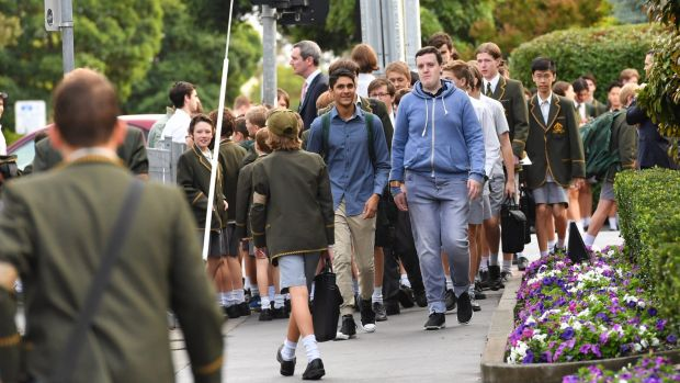 Some  Trinity students wore casual clothes to school on Tuesday to protest the sacking of Rohan Brown.