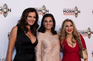 The Real Housewives of Sydney's Krissy Marsh, Nicole O'Neil and Matty Samaei at the Book of Mormon.