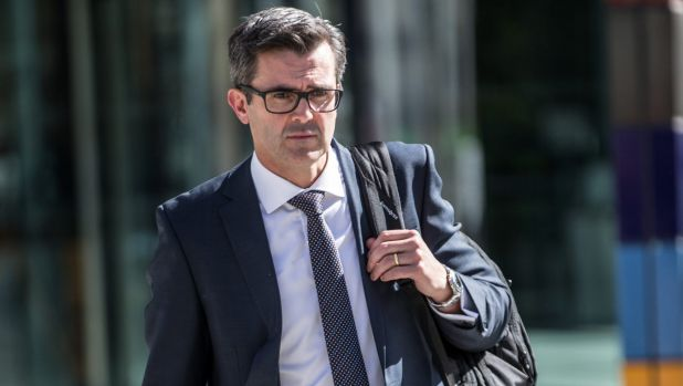 NAB's Anthony Waldron arrives at the banking royal commission on Tuesday.
