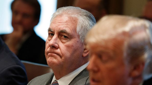 Ousted: Former US secretary of state Rex Tillerson.